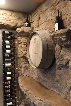 We provide faux rock (carved concrete) training videos and workshops to instruct artists and professionals. Spiral Wine Cellar, Wine Cellar Basement, Home Wine Cellars, Wine Cellar Design, Wine Wall, Italian Wine, Wine Storage, Caves, House Design
