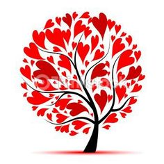 tree of hearts  -  red hearts