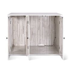 Litter Box Farmhouse Style Credenza | Litter-Robot Cat Furniture, Furniture For You, Hidden Litter Boxes, Litter Robot, Rustic White, Modern Farmhouse Style, Credenza, Plank, Bathroom Medicine Cabinet