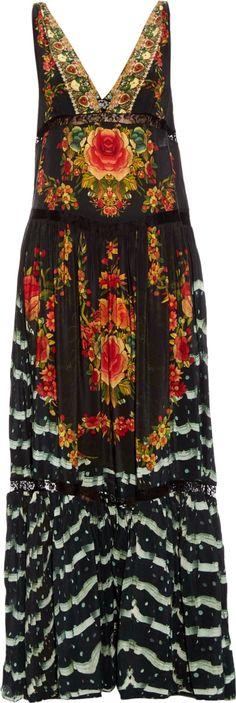Camilla Franks lift the veil embellished silk maxi dress.
