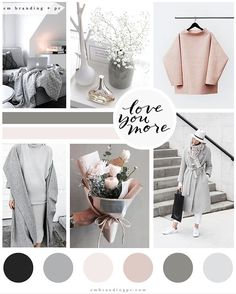 The inspiration board behind our recent rebrand and website design! We love…