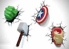 Marvel Avengers! Thor, Iron Man, Captain America, Hulk! Unique Wall Decor