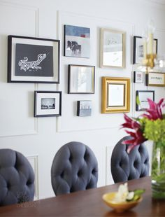 Mismatched picture wall on Desire to Inspire