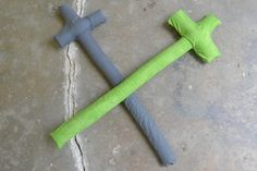 DIY Handmade Baby Toys : DIY Make Safe Toy Pirate Swords