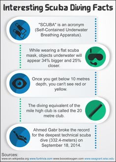 Fun facts about scuba diving! Aside from the great adventure diving offers us - the activity itself also brings engaging facts!