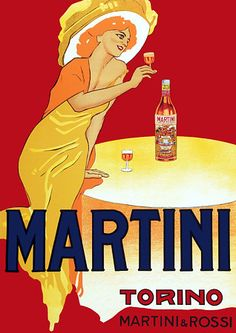 Martini, Torino by Dudovich. 1930s  http://www.vintagevenus.com.au/collections/drinks/products/vintage_poster_print-d421