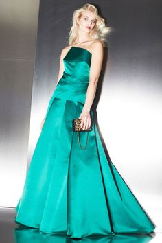 Escada green gown Fall 2014