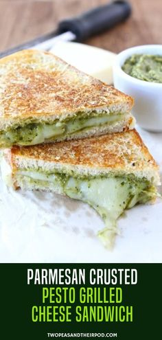 latest obsession is this Parmesan Crusted Pesto Grilled Cheese Sandwich! - Women's fashion -My latest obsession is this Parmesan Crusted Pesto Grilled Cheese Sandwich! Keto Banana Bread, Banana Bread Recipes, Keto Bread, Grill Cheese Sandwich Recipes, Pesto Sandwich, Cheese Burger, Grilled Sandwich, Burger Recipes, Cheese Recipes