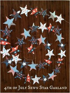 Sewn 4th of July Star Garland