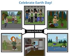 """Earth Day is celebrated around the world on April 22, and Storyboard That is offering several free lesson ideas for elementary and middle school classrooms. http://www.bigdealbook.com/newsletters/k-12_technology/2016/04/15/#engage_in_visual_communicationCheck out """"Cool Earth Facts,"""" designing a comic strip that shows interaction with the environment, and preparing public service announcements about pollution prevention. #EarthDay Storyboard That"""