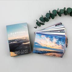28 pcs/set Sunrise scenery mini card greeting card lomo memo card kids gift postcard kawaii stationery school supplies