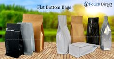 #Flatbottombags are also referred to as #blockbottombags. Bags are available in either a #stock or #custom selection option of which all stock orders