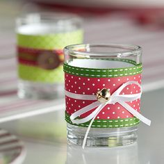 DIY-Holiday Votives~ great gift idea or decoration to add to your holiday decorating!