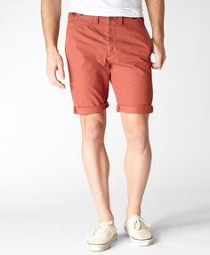 Apparently, every dude needs a pair of red shorts.