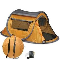One touch easy setup auto pop up camping tent Auto Camping, Camping Hacks, Pop Up Camping Tent, Hiking Tent, Best Tents For Camping, Motorcycle Camping, Backpacking Tent, Pop Up Tent, Camping Supplies