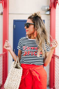 Extra Spicy Striped Tee!