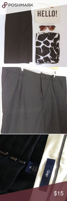 gap black pencil skirt GAP black pencil skirt. Belt loops, pockets, button, tab and zip closure. Great condition except for a small tear near seam on left side. Priced accordingly. Size 16.🎉Host Pick 9/4🎉 / skirt, mini, miniskirt, pencil skirt, work skirt, workwear, work wear, professional, gap / GAP Skirts Pencil