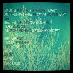 Depeche Mode - my little universe.