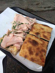 Pizzarium - Pizza con Scarola Ripassata e Pizza a con Mortadella