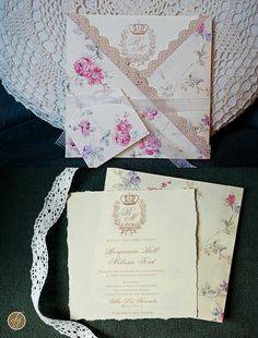 Romantic shabby wedding invitation - Invito romantico e shabby День Весілля 721c7b51ebf93