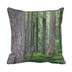 Deep Forest Throw Pillow #trees #nature