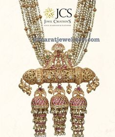 Pearls Set with Jhumkas Pendant by JCS
