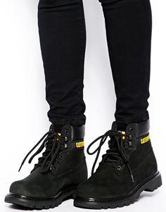 Caterpillar Colorado Black Ankle Boots