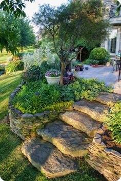 The Amazing Rock Garden Landscaping ideas for a beautiful front yard - Steingarten Landschaftsbau - Awesome Garden Ideas Garden Steps, Garden Paths, Easy Garden, Herb Garden, Rocks Garden, Potted Garden, Gravel Garden, Fence Garden, Terrace Garden