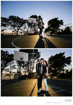 Basketball court engagement photos   UMeUsStudios.com