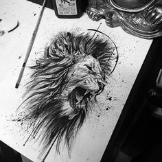 one of the best Lion tattoos you'll ever find! Great drawing with mindblowing details – amazing job! one of the best Lion tattoos you'll ever find! Great drawing with mindblowing details – amazing job! Leo Tattoos, Animal Tattoos, Body Art Tattoos, Tattoos For Guys, Tatoos, Lion Head Tattoos, Lion Tattoo Sleeves, Sleeve Tattoos, Lion Tattoo On Back