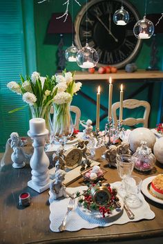 Новогодняя сервировка стола. NY decor