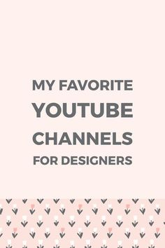 Want to learn how to create graphics for your blog and social media or boost your design skills? Here are my favorite YouTube channels for designers.