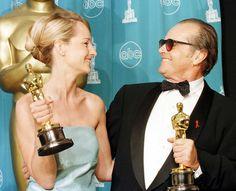 IlPost - 1998 - Jack Nicholson, Qualcosa è cambiato. Nicholson e Helen Hunt, con gli Oscar per il Miglior attore e la Migliore attrice per Qualcosa è cambiato.  (HAL GARB/AFP/Getty Images)