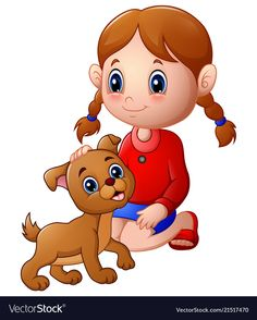 girl and dog cartoon images Cartoon Kids, Cartoon Images, Cartoon Familie, Picture Comprehension, Backdrop Frame, Dog Wallpaper, Dogs And Kids, Kids Stickers, Girl And Dog