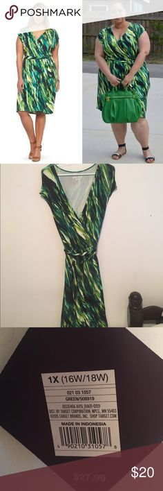 Beautiful Ava & Viv faux wrap dress Belted and beautiful! This jewel tone beauty is flattering and comfortable. NWT. From Target's plus-sized collection Ava & Viv Dresses Midi