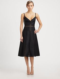 Valentino - Silk Camisole Strap Dress - Saks.com