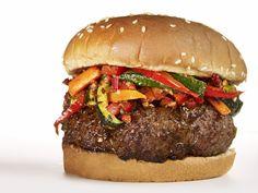 Caribbean Burger recipe from Food Network Magazine via Food Network