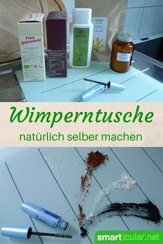 Make your own natural mascara from only 4 Natürliche Wimperntusche aus nur 4 Zutaten selbst herstellen You don& like mascara or are you looking for a natural alternative? With just four ingredients, you can make your own mascara with this recipe! Beauty Secrets, Beauty Hacks, Beauty Ideas, Beauty Products, Make Your Own Makeup, Make Up, Diy Beauté, Natural Mascara, Leave In
