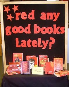 "Red any Good Books Lately? could also do ""Orange you lucky we have some good books?"""