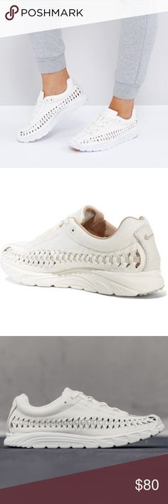 online retailer dc358 53f56 NWOT Womens Nike Mayfly Woven Sneakers White 9 Nike - Mayfly Woven  Leather-trimmed Faux