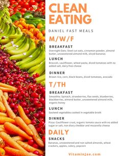 Daniel Fast recipes that will have you full and satisfied all 21 days! Daniel Fast Food List, Daniel Fast Meal Plan, 21 Day Daniel Fast, 21 Day Fast, Daniel Fast Meals, The Daniel Plan, Healthy Meal Prep, Healthy Eating, Healthy Fast Food