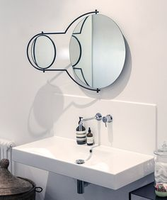 Buy online Orbit By omk, wall-mounted mirror design Rodney Kinsman Bathroom Accessories Luxury, Home Accessories, Bulb Vase, Drop Leaf Table, Wall Mounted Mirror, Butterfly Chair, Bar Stools, Sink, Inspiration