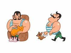 Mario The Muscle Man Loves Pets by Denis Sazhin