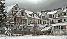 """Abandoned Hotel. It looks like the hotel they used for the movie """"The Shining""""!"""