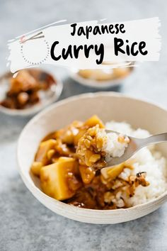 Japanese curry rice is an ever-popular and delicious Japanese take away food. This Japanese curry rice recipe is versatile. It can be made with different types of protein sources such as Beef, Chicken, Pork and Seafood. Also, any vegetables can be used. Japanese typically use curry roux to make curry. Learn how to make easy Japanese curry rice with my step by step recipe and video. #Japanesecurry #Curry #curryrice #Japanesetakeaway #Japanesecurryrecipe #Japanese #chicken #beef #Japaneserecipe Best Chicken Recipes, Pork Recipes, Seafood Recipes, Asian Recipes, Oriental Recipes, Cooking Recipes, Rice Recipes, Japanese Chicken, Japanese Curry