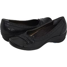 I need a sturdy pair of black flats that will stand up to some walking & have arch support.  Is the heel on these too clunky?