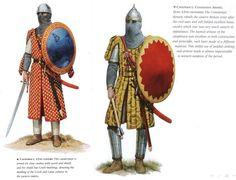 Catafractos bizantinos durante la dinastía de los Comenos. Más en www.elgrancapitan.org/foro
