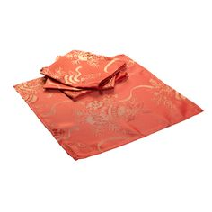 These festive napkins are bright red with a gold baubles and holly design throughout and would make the perfect finishing touch for your dining room table during Christmas time.