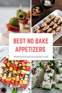 Easy no-bake appetizer recipes for any kind of occasion! Surprise your family and friends with these delicious appetizers! Easy no-bake appetizer recipes for any kind of occasion! Surprise your family and friends with these delicious appetizers! Baked Appetizer Recipes, Healthy Appetizers, Delicious Appetizers, Dinner Recipes, Light Appetizers, Elegant Appetizers, Appetizers For Party, Kitchen Recipes, Cooking Recipes
