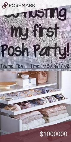 Co-hosting my first Posh Party!!! Get ready to celebrate with me on Sunday, July 30th at 7:00! Theme to be announced. Leave me a comment below and I will check out your closet for potential host picks! So excited!!! Other